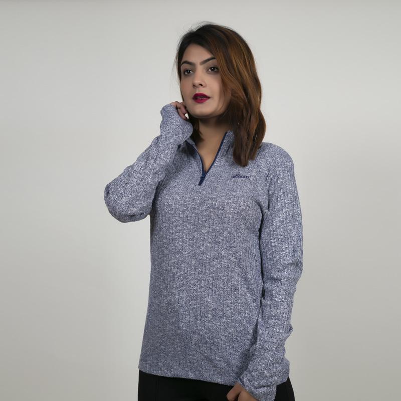 Tenpel  Women's Half   Zipped   Sweater #1241