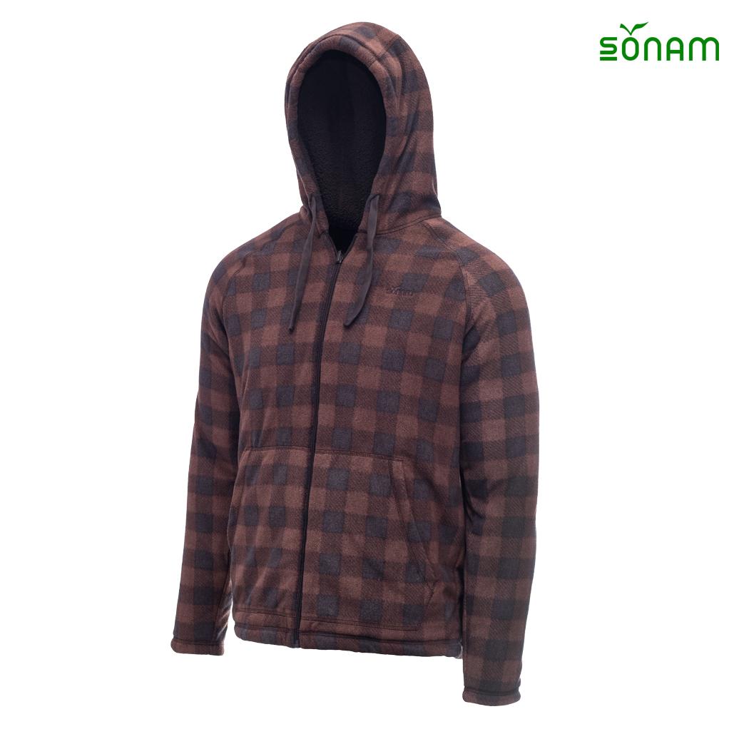 Khedrub Men's  Check Fleece Reversible Jacket #1231